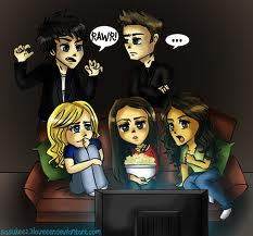 Damon,Stefan,Caroline,Elena and Bonnie <3
