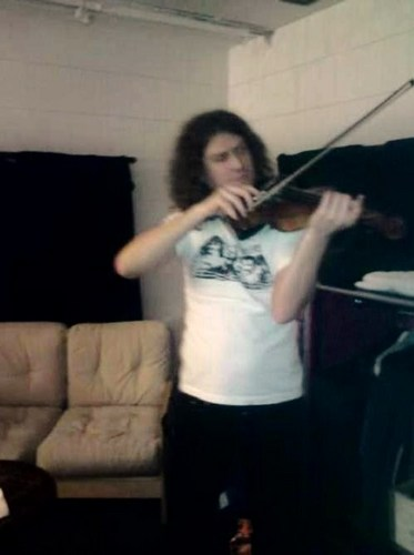Dave can play the violin!