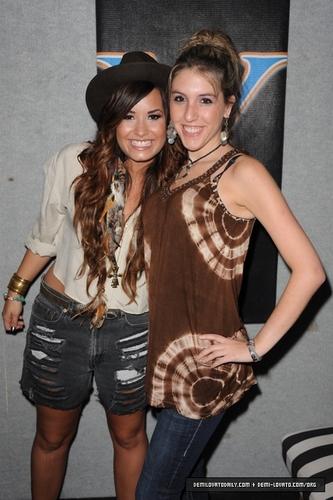 Demi - Visits Y100 Miami Studios - July 25, 2011