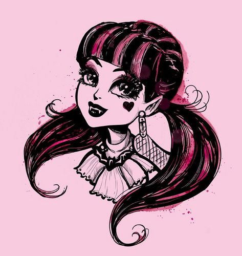 Monster High Hintergrund with Anime entitled Draculaura is cute