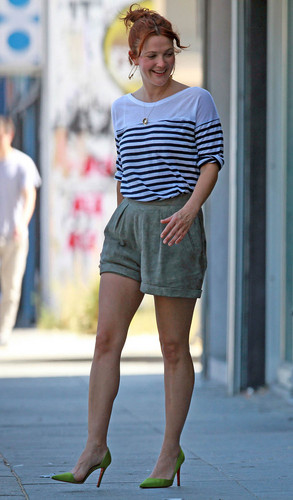 Drew Barrymore spotted shopping at Chanel and Cartier in Beverly Hills, July 23.