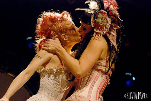 Emilie Autumn fond d'écran with a bridesmaid, a dîner dress, and a robe entitled EA & Her Bloody Crumpets