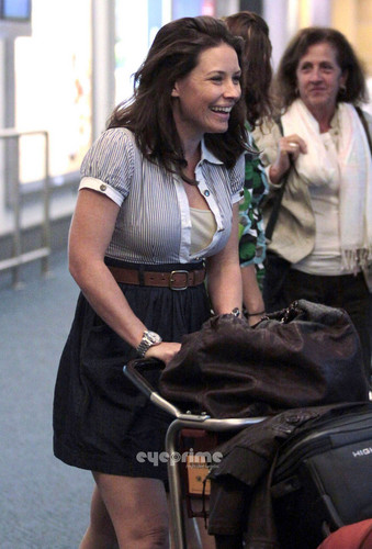 Evangeline and Family at Vancouver Airport - July 26