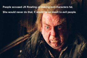 Evil characters aren't fat