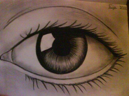 Drawing fondo de pantalla entitled Eye