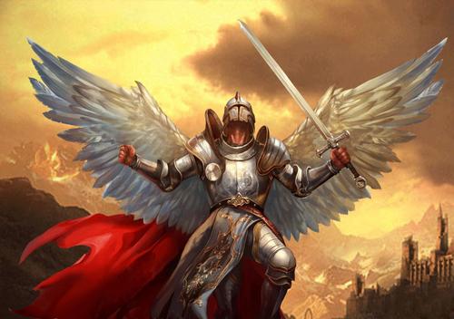 fantasi Warrior malaikat