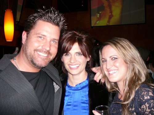 From The Castle Premiere Party Stana with Glenn & Liane Kleczkowski