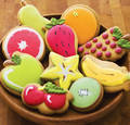 Fruit or Cookies?I wonder if they count as 'Heathly' - cute-food photo