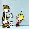 Calvin & Hobbes photo probably containing anime called Funny Calvin & Hobbes Icons