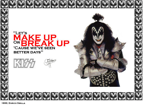 KISS wallpaper probably with a newspaper and anime entitled Gene Simmons