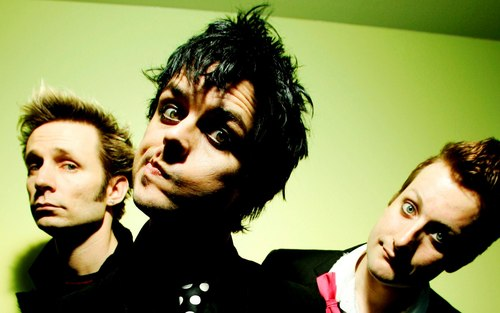 Green Day wallpaper probably with a business suit and a portrait titled Green Day