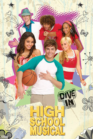 High School Musical 3 wallpaper probably with a sign and anime called HSM 3: senior year