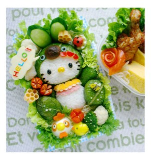 Hello Kitty salade