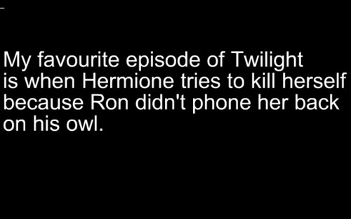 Hermione tried to kill herself