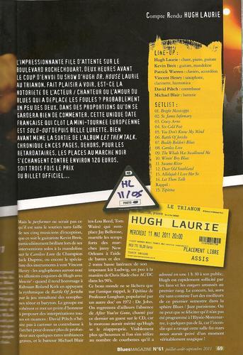 Hugh Lauire-Blues Magazine(French May 2011)