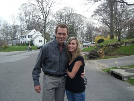 Hugh Laurie- on the Set of The Oranges.