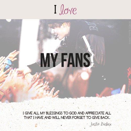 I amor my fans