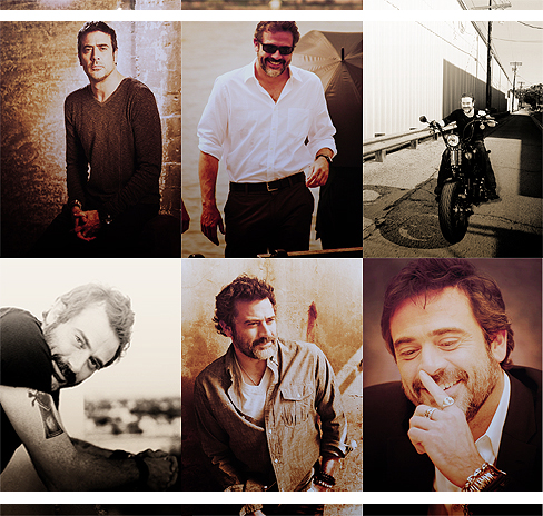 Jeffrey Dean morgan Hintergrund with a business suit titled JDM;