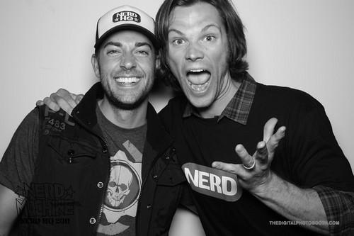 Jared& Zachary Levi at NERD HQ- Comic Con 2011