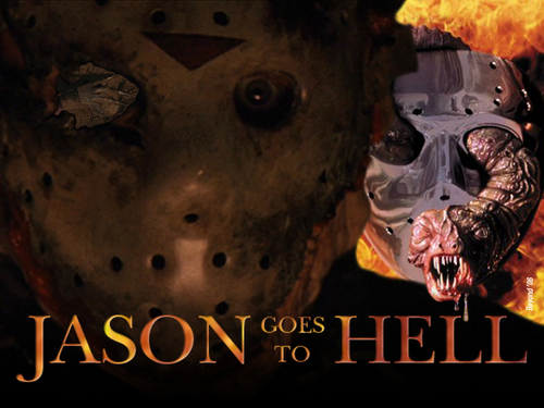 Horror Movies wallpaper probably containing a fire entitled Jason Goes to Hell