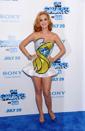 "Katy Perry at ""The Smurfs"" Movie Premiere"