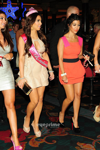 Kim Kardashian Celebrates Her Bachelorette Party at TAO in Vegas, July 23.