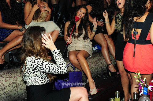 Kim Kardashian Celebrates Her Bachelorette Party at TAO in Vegas, July 23.