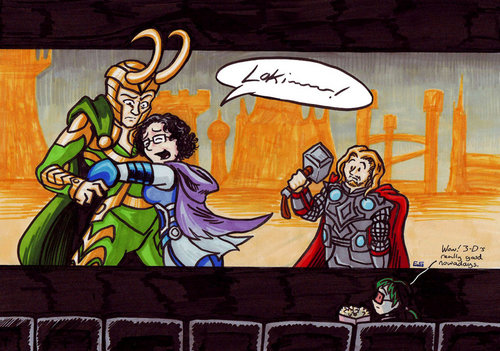 Loki and Fangirl in 3D