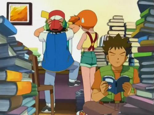 Looks like Ash dont wanna study!