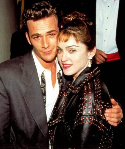 Luke with Madonna