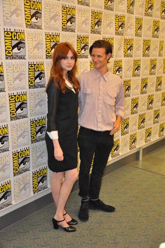 Matt Smith & Karen Gillan @ San Diego Comic Con 24/7/11