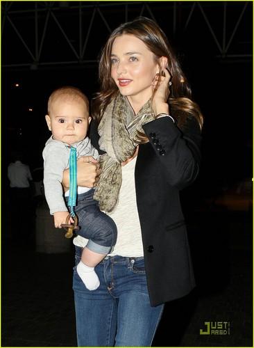 Miranda Kerr Leaves Los Angeles with Flynn