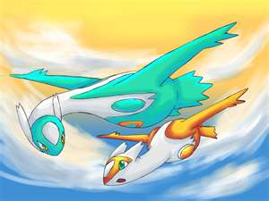 My shiny Latias and Shiny Latios drawing