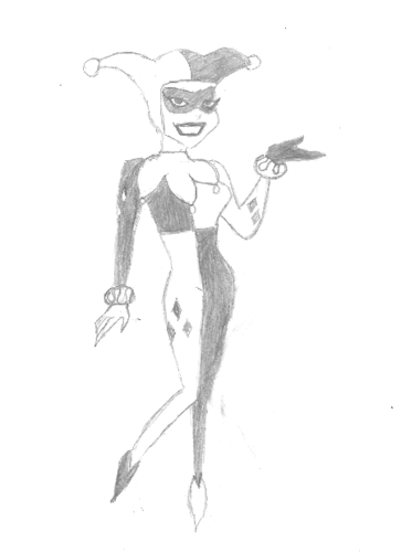 My sketch of Harley Quinn