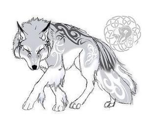 My serigala, wolf Form.