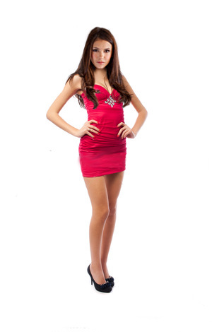 The Vampire Diaries wallpaper containing a cocktail dress called Nina Dobrev Manip