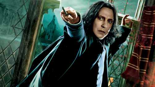 Official HP DH PART II Snape Edited wallpaper