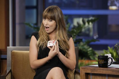 Olivia Wilde on the Tonight Show With Jay Leno