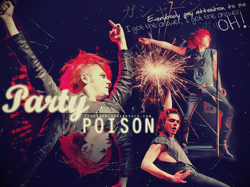 My Chemical Romance Hintergrund possibly with a konzert titled PARTY POISON
