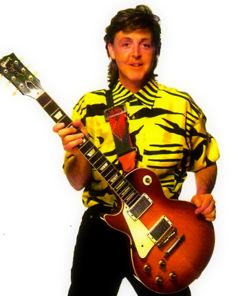 Paul McCartney Обои containing a guitarist titled Paul McCartney in the late 1980's