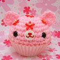Pink Bear Cupcake - cute-food photo