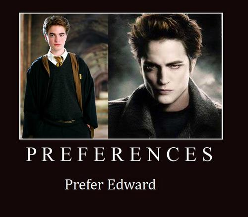 Harry Potter Vs. Twilight wallpaper possibly with a portrait entitled Preferences