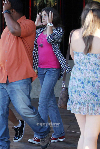 Prince, Paris, Blanket, Jaafar and Jermajesty at the films in Calabasas 7/24/2011