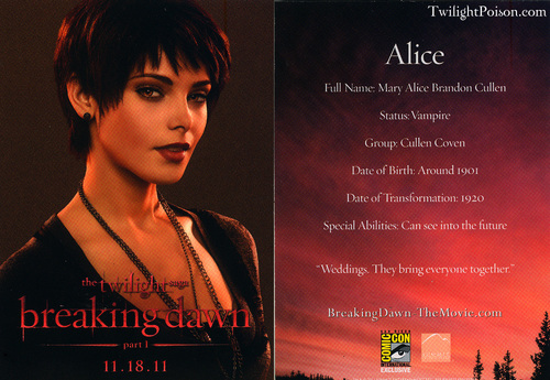 Promocional Card Alice