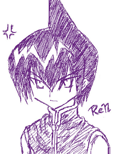 Shaman King achtergrond probably with a red cabbage called Ren tao from shaman king