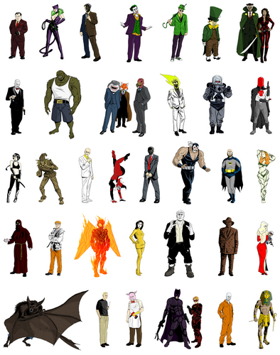 Rogues Gallery - batman-villains Fan Art