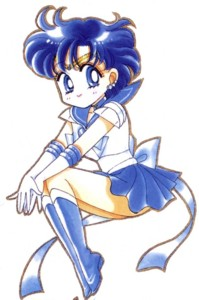 Sailor Mercury Hintergrund probably with Anime called Sailor Mercury Chibi