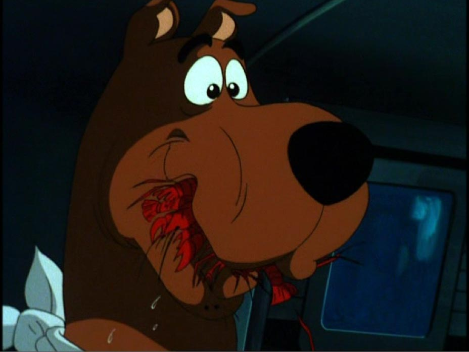 Scooby Doo Eating Craw peixe