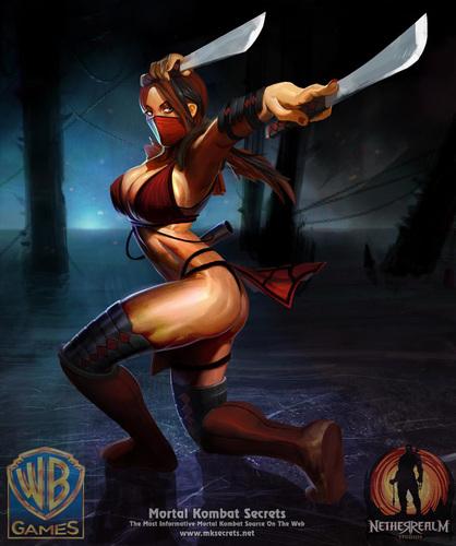 Mortal Kombat wallpaper possibly with anime called Skarlet