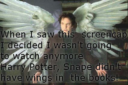 Snape didn't have wings in the book
